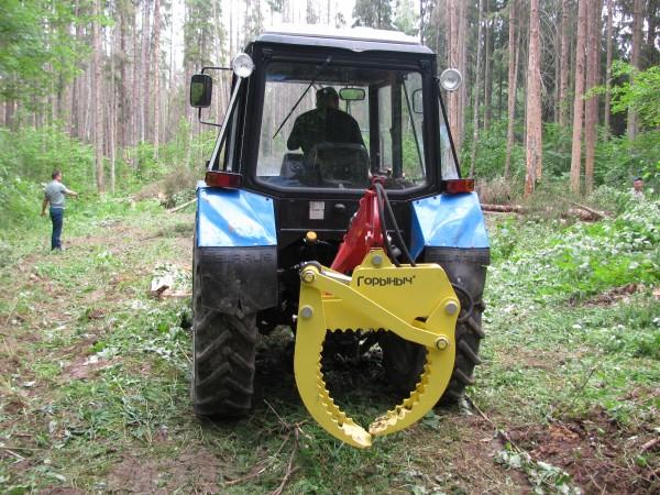 Гидравлический захват для трелевки леса - YouTube
